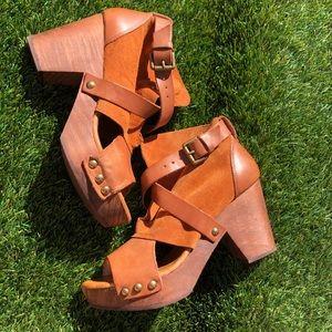 Free People wood sandals